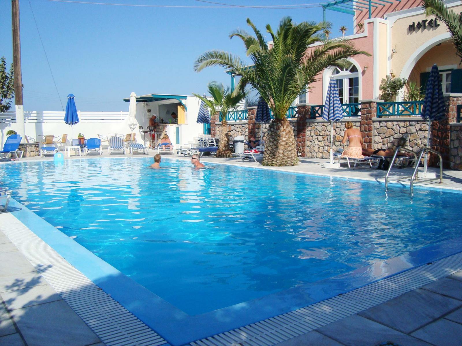 Alkyon Hotel In Kamari Santorini Island